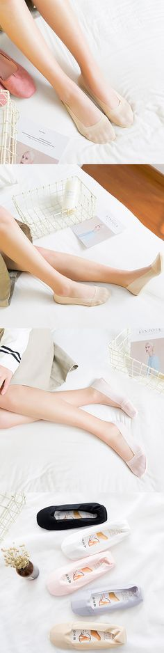 NC 3rd Anniversary!!! Selected and Recommended Products~ [Women Invisible Antiskid Ice Silk Boat Socks Shallow Liner No Show Peep Low Cut Hosiery]