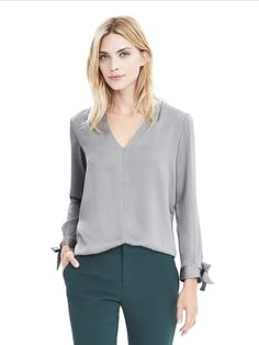 Long-Sleeve Aubrey Shirt | Banana Republic