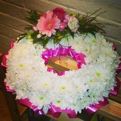 Floral wreath/tribute flowers from Cottons and Blossoms -  cottonsandblossoms.weebly.com
