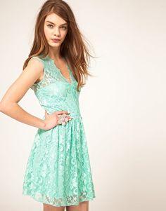 ASOS Sleeveless Skater Dress In Lace