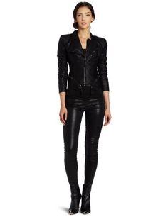 BLANK NYC Women's Jacket [BLANKNYC]. $98.00. Denim. Machine Wash. Black. 98% Cotton/2% Spandex. Made in China