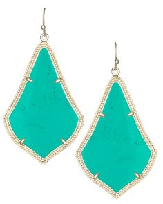 Alexandra Earrings in Teal - Kendra Scott Jewelry.