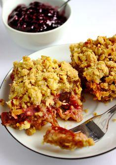 Szybkie ciasto z dżemem i owsianą kruszonką | Słodkie Gotowanie