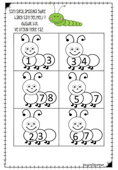 Here is caterpillar themed missing number worksheet for preschool, kindergarten, and first graders. This missing number Numbers Kindergarten, Numbers Preschool, Math Numbers, Preschool Printables, Preschool Learning, Teen Numbers, Numbers For Kids, Preschool Activities, Lkg Worksheets
