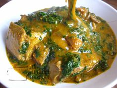 Nigerian Food Recipes: HOW TO COOK CURRECT OGBONO SOUP---I make it without meat…