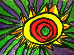 Art With Mr. E: More Radial Design Paintings: 2nd Grade