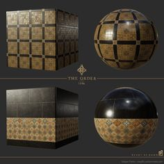 ArtStation - The Order: 1886 westminster palace tile floor materials, Megan Parks