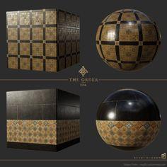 ArtStation - The Order: 1886 westminster palace tile floor materials, Megan Parks