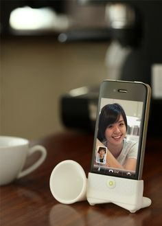 Horn Stand for iPhone! This would be great!