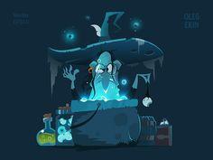 Witch artist  character  design  designer  flat  halloween  illustration  illustrator  mascot  style  vector