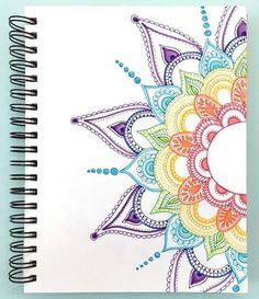 40 Beautiful Mandala Drawing Ideas & Inspiration · Brighter Craft 40 illustrated mandala drawing ideas and inspiration. Learn how you can draw mandalas step by step. This tutorial is perfect for all art enthusiasts. Doodle Art Drawing, Pencil Art Drawings, Easy Drawings, Drawing Sketches, Colorful Drawings, Art Drawings Beautiful, Drawing Step, Drawing Drawing, Mandala Doodle
