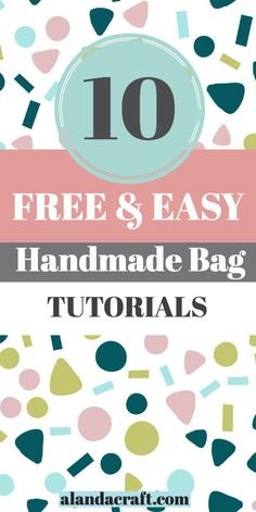 Nice and easy free bag tutorials to make. Full step-by-step instructions a Diy And Crafts Sewing, Diy Sewing Projects, Sewing Projects For Beginners, Easy Diy Crafts, Fabric Crafts, Bag Tutorials, Quilting Tutorials, Sewing Tutorials, Sewing Tips