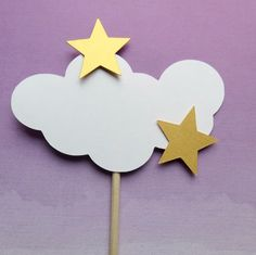 Cloud centerpieces are now available! Clouds and stars are a classic and elegant theme for a baby shower. These centerpieces can be used on tables, in cakes or in diaper cakes to carry the cloud theme throughout your shower. Baby Shower Tags, Baby Shower Favors, Baby Shower Parties, Baby Shower Themes, Baby Boy Shower, Baby Shower Gifts, Shower Cake, Shower Party, Shower Ideas