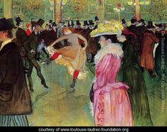 Dance At The Moulin Rouge - Henri De Toulouse-Lautrec - www.toulouse-lautrec-foundation.org