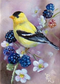 """""""I think we consider too much the good luck of the early bird and not enough the bad luck of the early worm."""" ~ Franklin D. Roosevelt. Painting by the brilliant Paulie Rollins"""