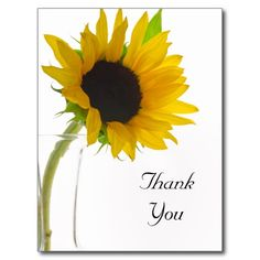 Sunflower Wedding Rehearsal Dinner Yellow Sunflower on White Wedding Rehearsal Dinner Card Thank You Postcards, Thank You Note Cards, Save The Date Postcards, Save The Date Cards, Sunflower Wedding Invitations, Bridal Shower Invitations, Birthday Party Invitations, Custom Invitations, Dinner Invitations
