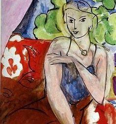 Henri Matisse~ Girl on Red Background (Portrait of Lydia Delectorskaya), 1936