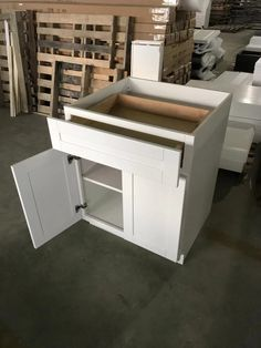 White Shaker Cabinets, Outdoor Furniture, Outdoor Decor, Outdoor Storage, Home Decor, White Cupboards, Homemade Home Decor, Decoration Home, Yard Furniture