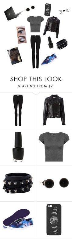 """""""Dan Howell inspired"""" by shoffa-1 ❤ liked on Polyvore featuring Paige Denim, Yves Saint Laurent, OPI, WearAll, Valentino, Vans, Casetify and Speck"""