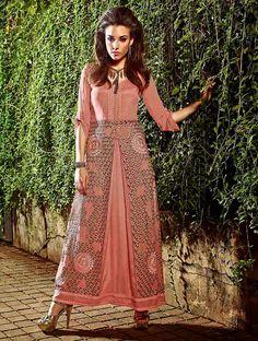 Glorious Pink Exclusive Readymade Designer Kurti