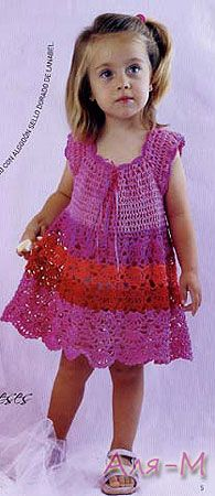 10 (195x450, 28Kb).  Adorable dress.  Pattern in Spanish, with graphs and layout