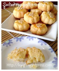 Salted Egg Yolk Cookies (蛋黄酥饼) Not bad, something different