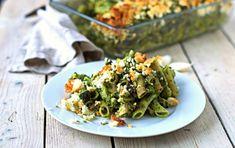Comforting Kale Pesto Pasta Casserole [Vegan, Gluten-Free]