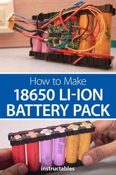 How to Make a 18650 Li-ion Battery Pack! Make a 18650 Li-ion (lithium-ion) battery pack with a BMS circuit. Diy Electronics, Electronics Projects, Batterie Lithium, Raspberry Pi Projects, Electronic Parts, Arduino Projects, 18650 Battery, Packing, How To Make