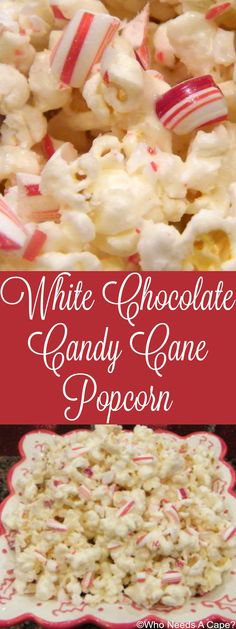 Delicious blend of flavors in this favorite holiday snack! White Chocolate Candy… Delicious blend of flavors in this favorite holiday snack! White Chocolate Candy Cane Popcorn is quite addictive though, don't say I didn't warn you! Flavored Popcorn, Popcorn Recipes, Candy Recipes, Baking Recipes, Snack Recipes, Dessert Recipes, Christmas Popcorn, Christmas Sweets, Funny Christmas