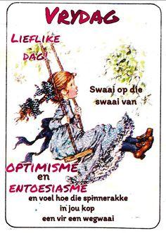 Lekker Dag, Good Night Sleep Tight, Evening Greetings, Afrikaanse Quotes, Goeie Nag, Goeie More, Prayers, Friday, Van
