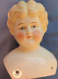 Antique German China Doll Head Blonde 5 in Tall Germany | eBay