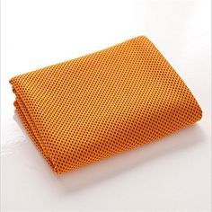 """MJ Fashion Cooling Towel for Instant Relief - 40""""12"""" - for Sports, Workout, Fitness, Gym, Yoga, Pilates, Travel, Camping & More (Orange)"""