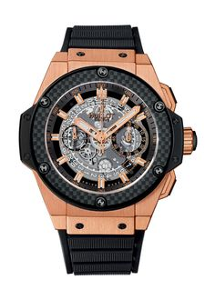 King Power Unico King Gold Carbon 48mm Chronograph watch from Hublot