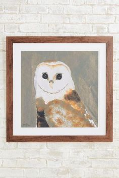 Buy Artist Collection Owl By Julia Burns from the Next UK online shop Statement Wall, Home Decor Wall Art, Decorative Accessories, Burns, Wings, Owl, Candles, Uk Online, Frame