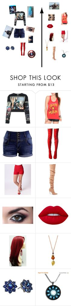 """Captain America: Civil War"" by pixie257 ❤ liked on Polyvore featuring FAUSTO PUGLISI, Cape Robbin, Balmain, Lime Crime, Nina, contestentry and CaptainAmericaCivilWar"
