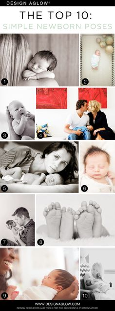 The Top 10: Newborn Poses (In Under a Minute) #designaglow
