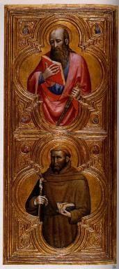 Olivuccio di Ciccarello - San Paolo e San Francesco, dettaglio Trittico -1410 - Walters Art museum, Baltimore