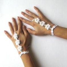 crochet bridal wedding glove pattern   PDF pattern - Wedding Nude ..