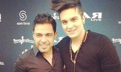 Luan Santana posta foto com Zezé Di Camargo e Luciano