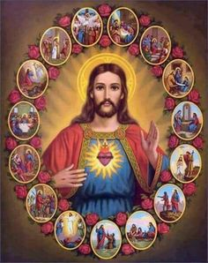 DIY Diamond Painting Cross Stitch The Sacred Heart Of Jesus Crystal Diamond Embroidery Mosaic Needlework Home Decor Jesus Our Savior, Heart Of Jesus, Jesus Is Lord, Religious Images, Religious Icons, Religious Art, Religious People, Images Du Christ, Pictures Of Jesus Christ