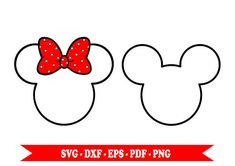 Minnie mouse svg Mickey mouse svg clip art outline in SVG