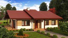 Wizualizacja ZA Dom w Luizjanie 1 CE 3 Bedroom House, House 2, Simple Designs, Gazebo, Outdoor Structures, House Design, Cabin, Architecture, House Styles