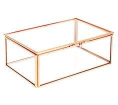 Show off your favourite jewellery pieces or desk accessories in this stylish Display Box. With a touch of copper, it's the perfect way to work this colour trend into your space and match back with your favourite copper accessories. Presented in a gorgeous printed box, this Glass Display Box makes a great gift for design lovers too.