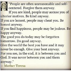 I want to practice this everyday. If everyone did the world would be a better place.