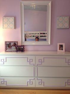 Overlay Pippa Kit #3 for Malm 3 drawer #habitatforhumanity Barbara Bronson and her team donate their time and skill. Notice the O'verlays in the girls room. Great way to give back!