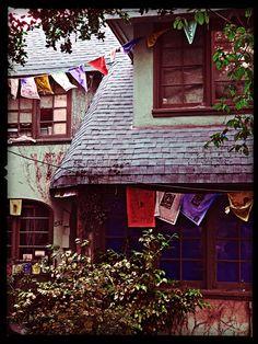 Prayer Flags.  Santa Barbara Ave.  Berkeley