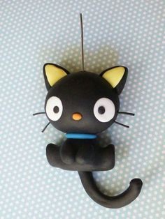 Polymer Clay Cat, Polymer Clay Figures, Polymer Clay Sculptures, Polymer Clay Animals, Polymer Clay Projects, Polymer Clay Charms, Polymer Clay Creations, Sculpture Clay, Polymer Clay Jewelry