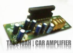 IC TA8210AH  using this IC you can apply a circuit of audio power amplifier for the car audio system. In general, all the speakers in the car using a subwoofer speaker, and woofer