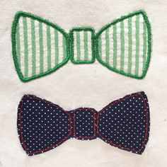 Sweet and simple bow tie machine embroidery and appliqué designs.  Perfect on a onesie for your little man. by MEmbroideryGeek on Etsy