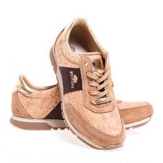 Cork Sneakers for women Sneakers Fashion, Cork, Fashion Art, Elegant, Brown, Leather, How To Wear, Stuff To Buy, Shopping